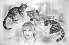 More details for a2 personalised handdrawn black & white portrait for your beauty wonderful gift