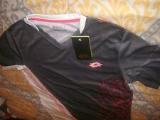 Lotto Boys Football Soccer Shirt Gray Italian Sports Design Top Sz XL/XXL (B77)