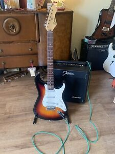 Encore Guitar With Johnson Practice Amp.