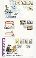 Gibraltar: Lot of 10 different first day covers 1 with S.S some rust. GI32