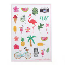 Korean Flamingo Cute Diary Stickers DIY Scrapbooking Decor Waterproof Gift #Y6