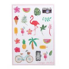 Korean Flamingo Cute Diary Stickers DIY Scrapbooking Decor Waterproof Gift BH
