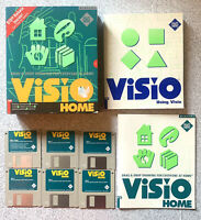 "ViSio Home Windows 3.1 Vintage Software 3.5"" disks Guides Original Box PC"