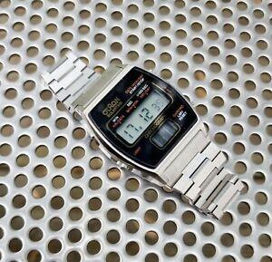 NOS Rare vintage 70s Otron SolarTime chrono solid state digital watch quartz LCD