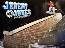 JEREMY JONES 2003 DVS snowboard 2 sided poster ~NEW old stock~MINT condition~!