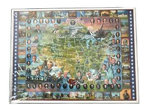 United States Presidents Jigsaw Puzzle 1000 pc the White Mountain Factory Sealed