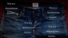 RARE VINTAGE EDWIN SELVEDGE ED 39 REGULR JEANS 31 32 34 FACTORY DISTRESSED FRSHP