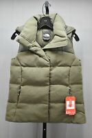 The North Face Novelty Nuptse Goose Down Hooded Vest, Women's Size XS, Olive NEW