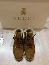 Gucci kids Sheepskin high-top sneakers size EUR 30 (US 12.5, UK 12)