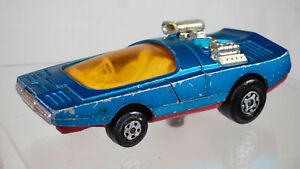 Lesney 1972 Matchbox SpeedKings K36 Bandolero Race Car Rare Blue Diecast Toy Car