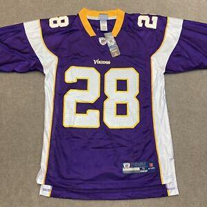 NFL Football Reebok Adrian Peterson Purple Stitched Vikings Jersey Size Small