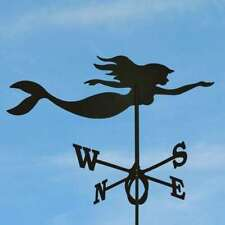 Large Black Steel Mermaid Weathervane