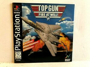 Top Gun Fire At Will PS1 MANUAL ONLY Authentic Playstation
