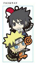 Naruto Sasuke and Naruto Pair Rubber Phone Strap NEW