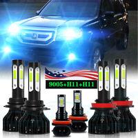 FOR Honda Pilot 2006 2007 2008 2009 2010 2011 2012-2018 LED Headlight+Fog Light