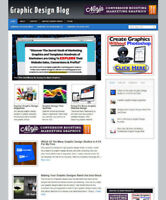 GRAPHIC DESIGN WEBSITE & BLOG WITH MULTI AFFILIATES + NEW DOMAIN & HOSTING