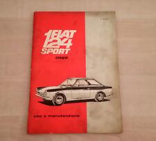 Fiat 124 Sport Coupé Libretto Manuale Uso e Manutenzione 1967 Italiano