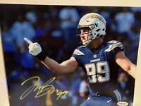 Joey Bosa Hand Signed Autographed 8x10 Photo LA Chargers OSU Buckeyes with COA