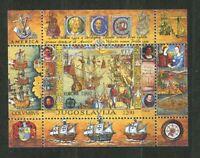 Columbus Discovery of America mnh Souvenir Sheet 1992 Yugoslavia #2156 Europa