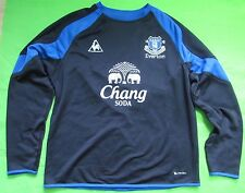 EVERTON FC Training Jacket Sweat Top Le Coq Sportif 2009-2010 Toffees men SIZE L