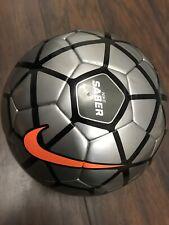 Nike Saber Soccer Ball Size 5 15/16 Anthracite Gray Black Orange Swoosh