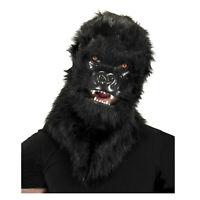 Adult Teen Ape Monkey Furry Halloween Cosplay Costume Mouth Mover Gorilla Mask