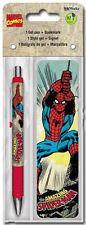 SPIDER-MAN - GEL PEN & BOOKMARK - BRAND NEW MOVIE MARVEL COMICS SPIDERMAN 3501