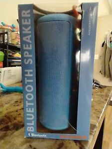 Sylvania Waterproof Bluetooth Speaker with Rubber Finish SP953, Blue