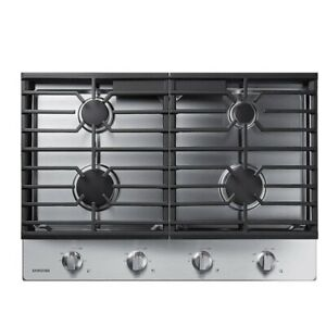 """Samsung NA30R5310FS 30"""" Stainless Steel Natural Gas 4 Burner Cooktop New Open"""