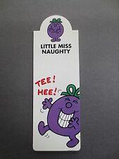 BOOKMARK Little Miss Naughty Mr Men Roger Hargreaves 2007 UNUSED