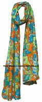 Indian Cotton Floral Print Women Fashion Long Scarf Neck Wrap Lady Shawl Stole