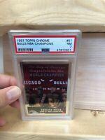 1997-98 TOPPS CHROME - BULLS NBA CHAMPIONS #51 JORDAN/PIPPEN - PSA 7
