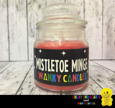 WANKY CANDLES Rude Funny Novelty Christmas Gift - MISTLETOE MINGE