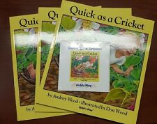 4 Quick As a Cricket by Don & Audrey Wood with Audio CD UNUSED Paperback E1-53