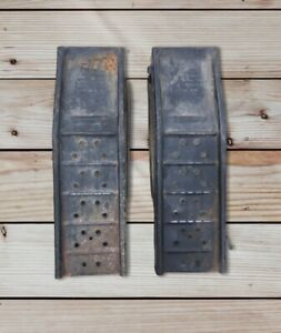 Pair Of Vintage Black Metal Automotive Car Ramps