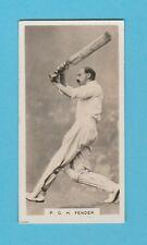 CRICKET - BOYS MAGAZINE - RARE CRICKET CARD  NO. 6 -  FENDER OF SURREY  -  1928