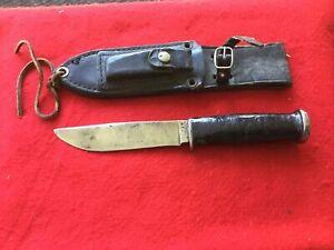 Vintage Kabar Olean NY Fixed Blade Knife Hunting Fishing used