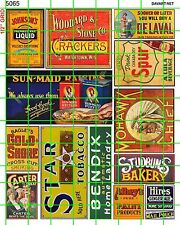 5065 DAVE'S DECALS ADVERTISING SETS - ASST'D DRY GOOD SIGNAGE EARLY MID CENTURY