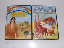 NOAH & THE GREAT FLOOD +6 More Stories-THE STORY OF SOLOMON 2 DVD Christian LDS