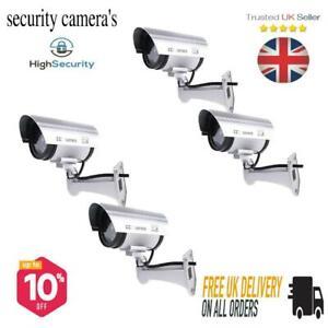 CCTV Dummy Security Camera LED Flashing Home Garage Shed Outdoor & Indoor