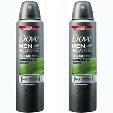 2 Pack Dove Men + Care Elements Minerals & Sage Antiperspirant Deo Spray 150ml