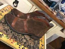 KANNA Kelly Women's Brown Suede ankle boots size 38-US- 8M Made in Spain,euc