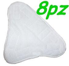SET 8 PANNI MICROFIBRA PER SCOPA A VAPORE X5 H2O MOP H20  CON VELCRO PAVIMENTO
