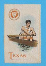 c1910s S22 Murad Cigarettes tobacco silk  UNIVERSITY  of  TEXAS  rower / crewe