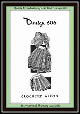 APRON Mail Order Design 606 Vintage LACY CROCHETED Ladies Craft Crochet