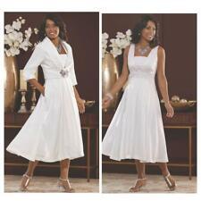 White Shimmer Formal Suit size 8 Midnight Velvet Elegant Fit Flare Jacket Dress