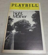 'NIGHT, MOTHER Playbill January 1984 Kathy Bates, Anne Pitoniak, Marsha Norman