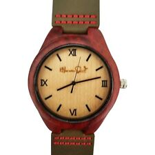 Eco-Friendly Watch With Leather Band Haven Sent Maple And Rosewood