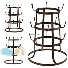 Coffee Mug Tree Drying Stand Cup Rack Glass Holder 15 Hook Bronze Finish f/Home