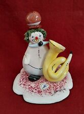 Vintage Italian Zampiva Clown Figurine Signed Tuba Player